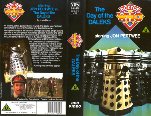 Day of the Daleks on VHS